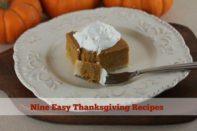 Nine Easy Thanksgiving Recipes