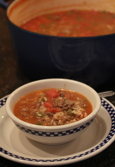 Stuffed Green Pepper Soup-