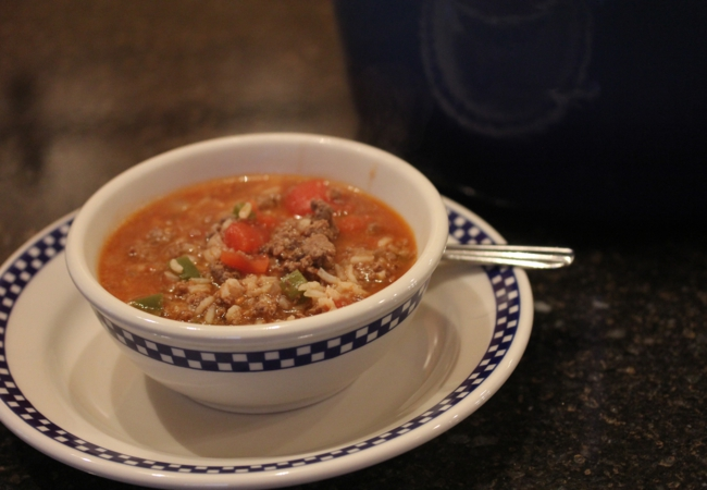 Stuffed Green Pepper Soup