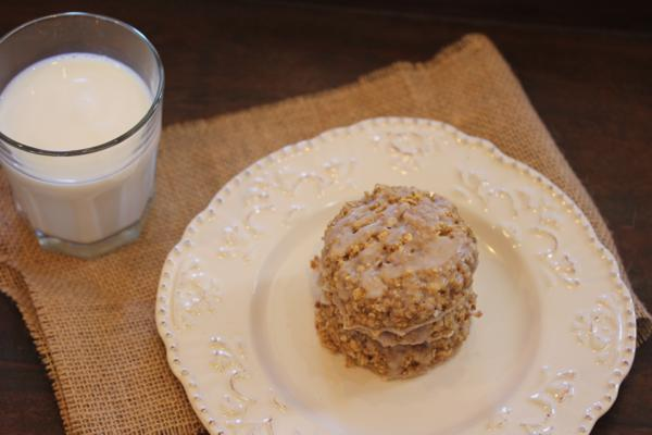 Cinnamon Roll Oatmeal Breakfast Cookie