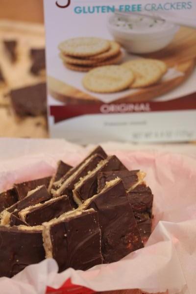 Gluten Free Cracker Toffee-