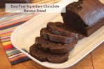 Four Ingredient Chocolate Banana Bread