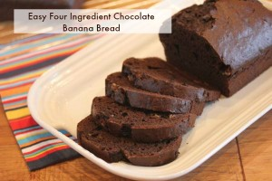 4 Ingredient Chocolate Banana Bread _