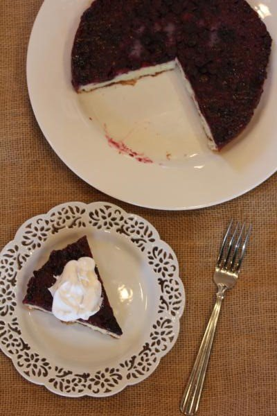 Blueberry Upside Down Cake-