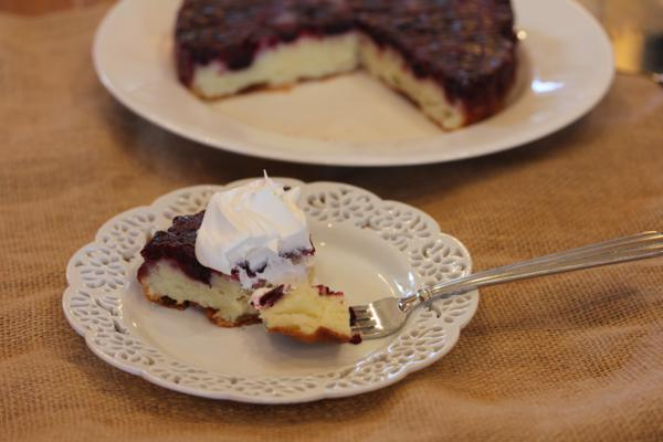Blueberry Upside Down Cake__