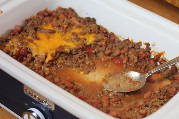 Crock Pot Beef and Beans Casserole-