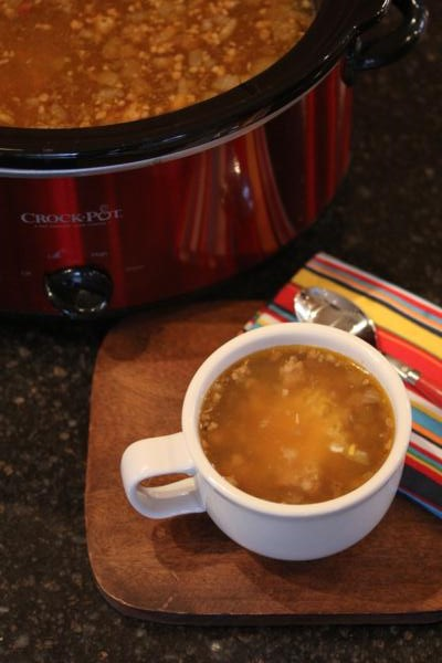 Crock Pot White Chili with Sausage -