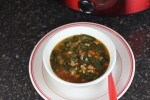 Gluten Free White Chili with Sausage and Spinach-