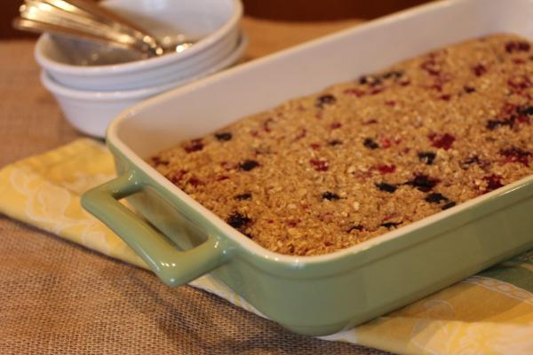 Triple Berry Baked Oatmeal