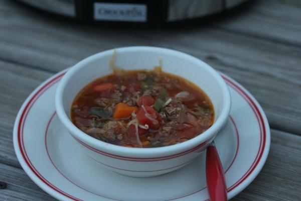 Crock Pot Ground Beef Stew-