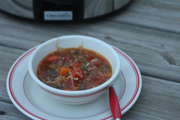 Crock Pot Ground Beef Stew