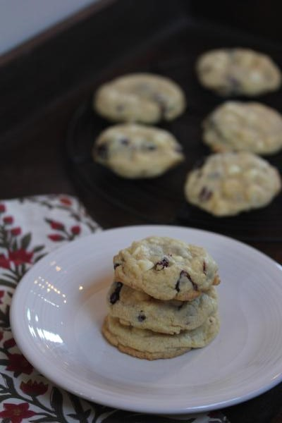 Gluten Free White Chocolate Cranberry Cookies-_
