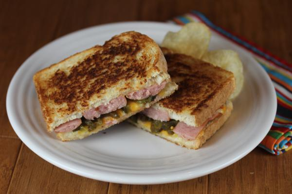 Kielbasa Grilled Cheese_