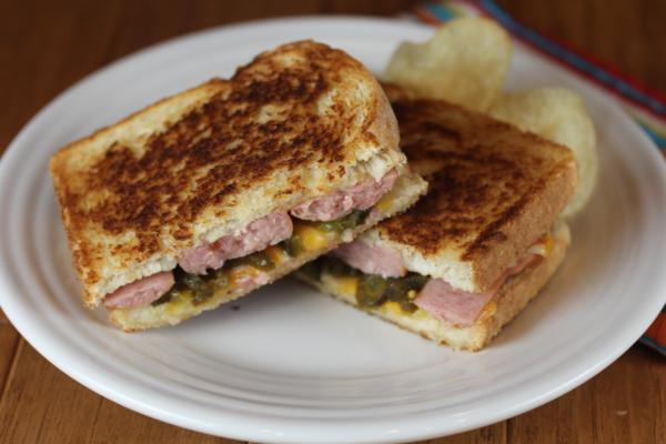 Kielbasa Grilled Cheese__
