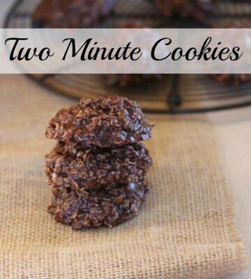 two minute cookies
