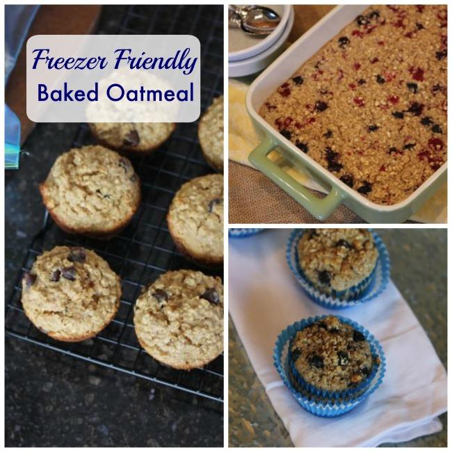Freezer Friendly Baked Oatmeal