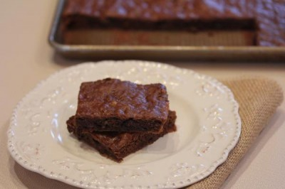 Gluten Free Double Chocolate Banana Bars-