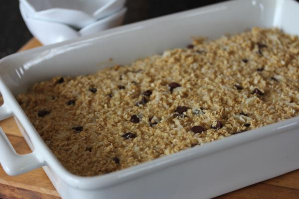 Mounds Bar Baked Oatmeal-