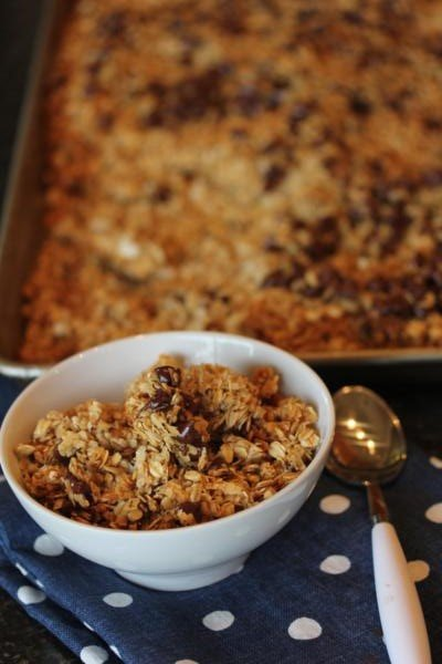 Chocolate Chip Coconut Granola-