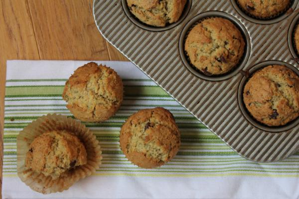 Chocolate Chip Zucchini Oatmeal Muffins_