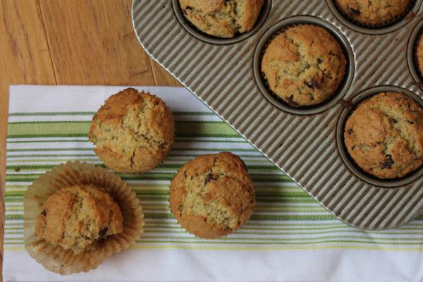 Chocolate Chip Zucchini Oatmeal Muffins_