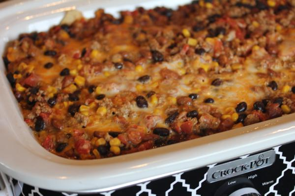 Crock Pot Nacho Cheese Casserole-