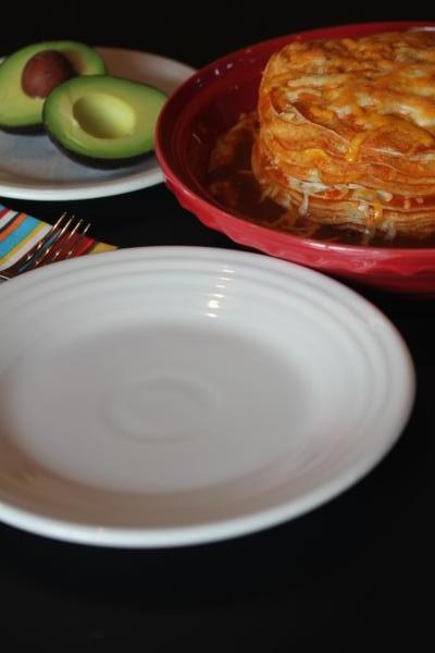 Layered Cheese Enchiladas