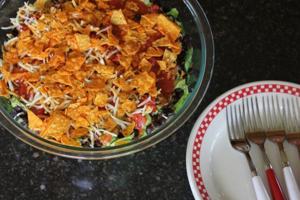 Spicy Layered Taco Salad-