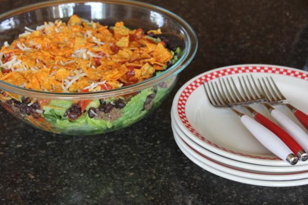 Spicy Layered Taco Salad