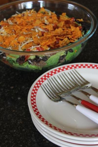 Spicy Layered Taco Salad_