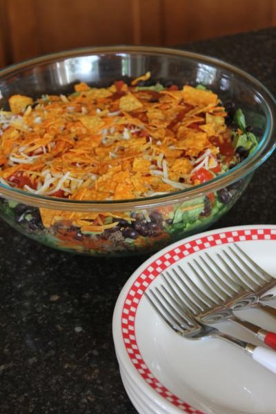 Spicy Layered Taco Salad__