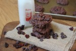 Chocolate Cherry No Bake Cookies_