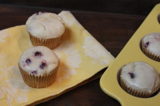Gluten Free Lemon Blueberry Muffins