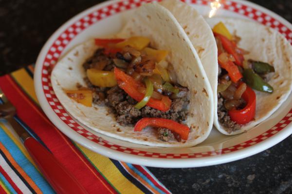 Ground Beef Fajitas-