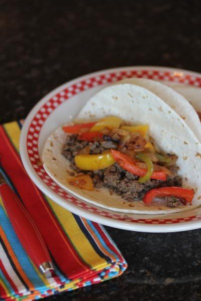 Ground Beef Fajitas