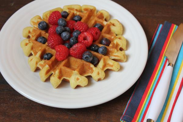 Light and Fluffy Dairy Free Waffles--