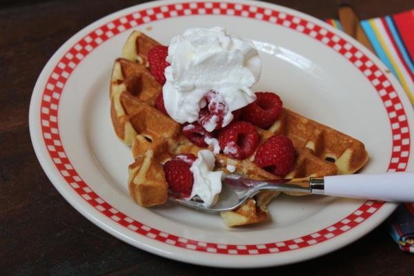 Light and Fluffy Waffles---