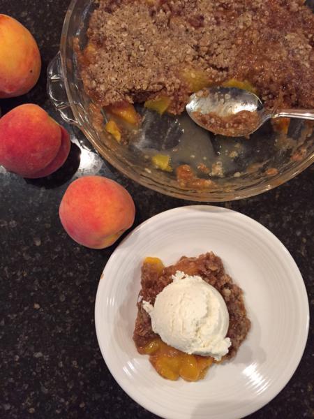 Microwave Peach Cobbler