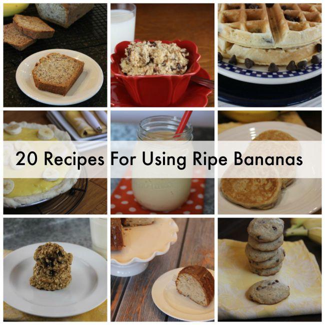 20 Recipes for Using Ripe Bananas