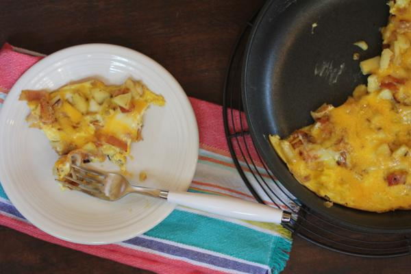 Apple Bacon Cheese Frittata