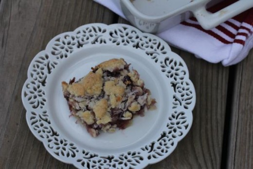 Coconut Raspberry Bars--