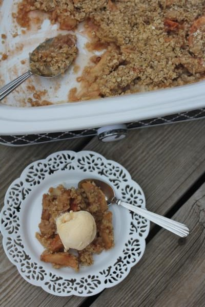Crock Pot Apple Crisp_