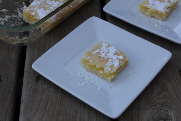 Gluten Free Lemon Bars--