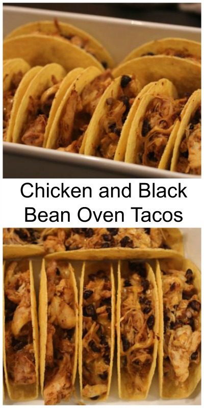 Chicken and Black Bean-Oven-Tacos