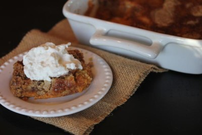 Pumpkin Dump Cake without Cake Mix