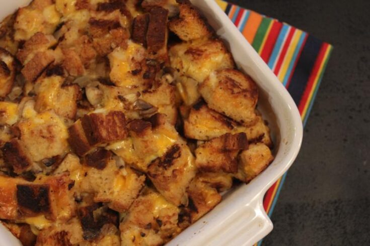 Cheese Stuffing in a pan