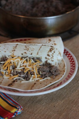 Ground Beef Tacos with Salsa Verde