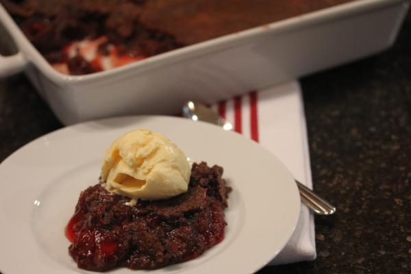 Chocolate Cherry Dump Cake without Cake Mix