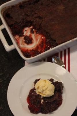 Chocolate Dump Cake without Cake Mix