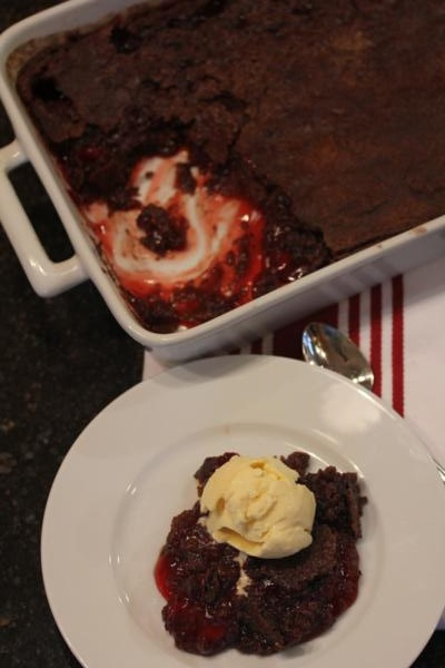 Chocoate Dump Cake without the Cake Mix_